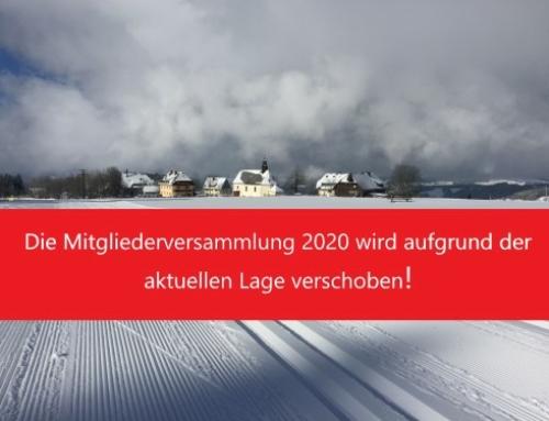 Die Mitgliederversammlung 2020 wird aufgrund der aktuellen Lage verschoben!